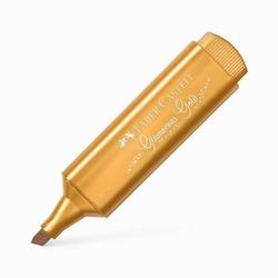 Faber-Castell - Faber Castell Fosforlu Kalem 46 Metalik Altın Glamorous Gold