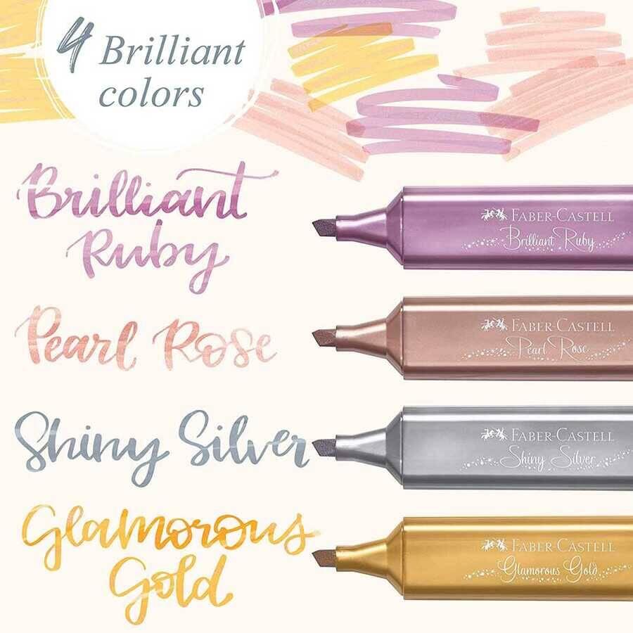 Faber Castell Fosforlu Kalem 46 Metalik Altın Glamorous Gold