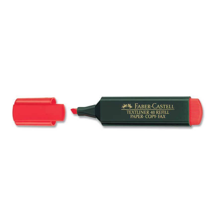 Faber Castell Fosforlu Kalem Kırmızı