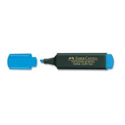 Faber-Castell - Faber Castell Fosforlu Kalem Mavi