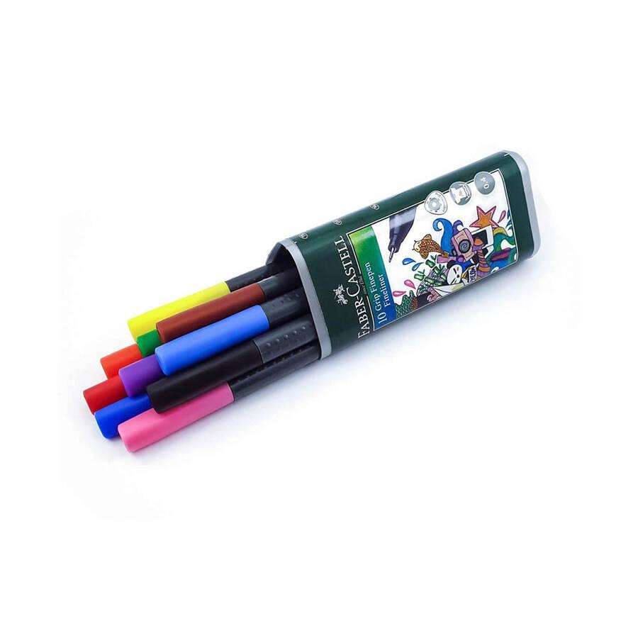 Faber Castell Grip Finepen Keçeli Kalem 0.4 mm 10'lu 5020151611
