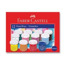 Faber-Castell - Faber Castell Guaj Boya 15 ml 12'li