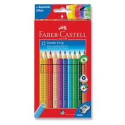 Faber-Castell - Faber Castell Jumbo Grip Kuru Boya 12'li