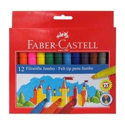 Faber-Castell - Faber Castell Jumbo Keçeli Boya Kalemi 12'li
