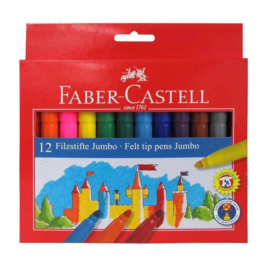 Faber Castell Jumbo Keçeli Boya Kalemi 12'li