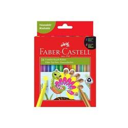 Faber-Castell - Faber-Castell Keçeli Kalem Comfort 6 Neon 6 Metalik 12 Klasik 24'lü
