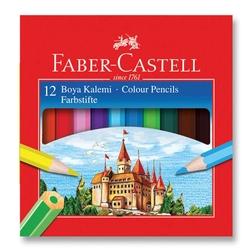 Faber-Castell - Faber Castell Redline Kuru Boya Yarım Boy 12'li