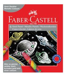 Faber-Castell - Faber Castell Pastel Boya Simli 6'lı