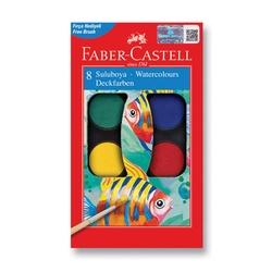 Faber-Castell - Faber Castell Redline Sulu Boya Küçük Boy 8 Renk