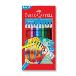 Faber-Castell - Faber Castell Redline Aquarel Kuru Boya 12'li
