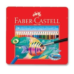 Faber-Castell - Faber Castell Redline Aquarell Metal Kutu Kuru Boya 24'lü