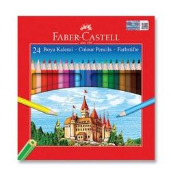 Faber-Castell - Faber Castell Redline Karton Kutu Kuru Boya 24'li