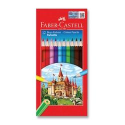 Faber-Castell - Faber Castell Redline Kuru Boya Tam Boy 12'li