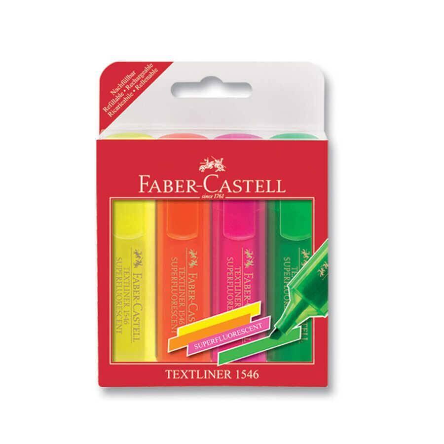 Faber Castell Şeffaf Gövde Fosforlu Kalem 4'lü