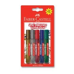 Faber-Castell - Faber Castell Simli Yapıştırıcı 10.5 ml 5'li