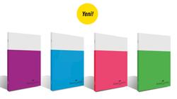 Faber-Castell - Faber Castell Smart Dikişli Plastik Kapak Düz Defter A4 100 Yaprak
