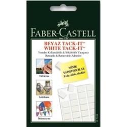 Faber-Castell - Faber Castell Hamur Yapıştırıcı Tack-it 50 gr Beyaz