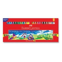 Faber-Castell - Faber Castell Wax Crayon Silinebilir Pastel Boya 25'li