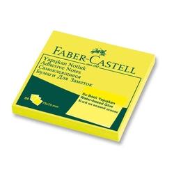 Faber-Castell - Faber Castell Yapışkan Notluk 75x75mm Fosforlu Sarı