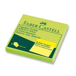 Faber-Castell - Faber Castell Yapışkan Notluk 75x75mm Fosforlu Yeşil