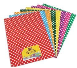 Ginza - Ginza Fon Kartonu Noktalı 50 x 70 cm 10 Renk Karışık Gn-1590