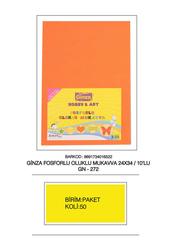 Ginza - Ginza Fosforlu Oluklu Mukavva 24 x 34 cm 10'lu Gn-272-50