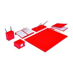 Gıpta - Gıpta Solid Sümen Takımı 8 Parça Kırmızı