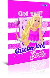 Gıpta - Gıpta Barbie Tel Dikişli Plastik Kapak Çizgili Defter A4 40 Yaprak