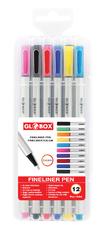 Globox - Globox Fineliner Keçeli Kalem 12'li