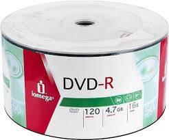 Iomega DVD-R 16x50'li Spindle 4.7Gb 120 dk