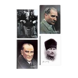 Keskin Color - Keskin Color Defter pp Kapak Spiralli Atatürk A4 80 Yaprak Kareli