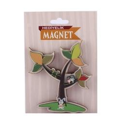 Keskin Color - Keskin Color K-Gift 2D Ahşap Magnet Hayvanlar Renkli