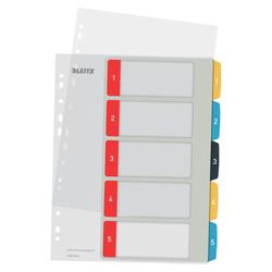 Leitz - Leitz Cosy 1-5 Yazdırılabilir Seperatör, PP Renkli