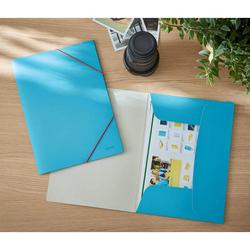 Leitz - Leitz Cosy Soft Touch Lastik Kilitli Dosya A4 Mavi