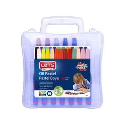 Lets - Lets Pastel Boya Plastik Çantalı 24'lü