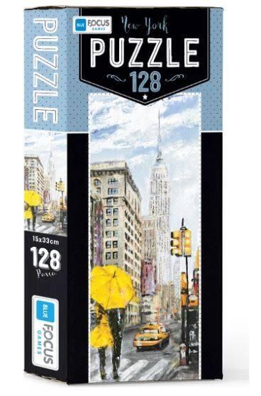 Mavi Lale Puzzle 128 Parça New York