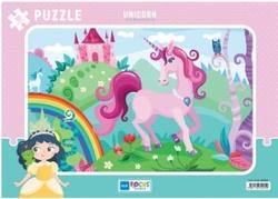 Mavi Lale - Mavi Lale Puzzle 30 Parça Tek Boynuzlu At