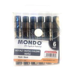 Mondo - Mondo Beyaz Tahta Kalem Kartuşu Siyah 6'lı Set