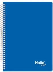 Notte - Notte Spiralli Plastik Kapaklı A5 Trend 60 Yaprak Çizgili