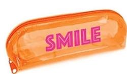 Pape - Pape Kalem Kutusu Smile Kabartmalı Şeffaf