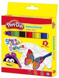 Play-Doh - Playdoh Kumaş Kalemi 6 Renk