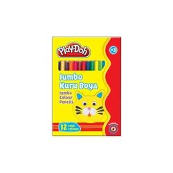 Play-Doh - Playdoh Kuru Boya Jumbo Karton Kutu 12 Renk
