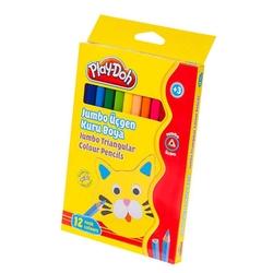 Play-Doh - Playdoh Kuru Boya Jumbo Üçgen 12 Renk