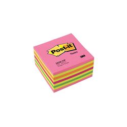Post-it - Post-it Yapışkanlı Küp Not Kağıdı 76x76mm 450 Yaprak Gökkuşağı Pembe