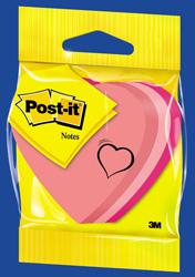 Post-it - Post-it Yapışkanlı Not Kağıd Kalp Şeklinde 225 Yaprak