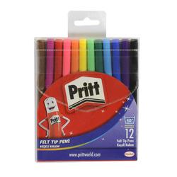 Pritt - Pritt Keçeli Boya Kalemi 12 Renk