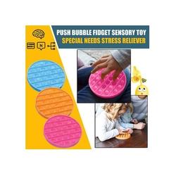 Push Pop Bubble Pop It Duyusal Oyuncak Özel Pop Stres Yuvarlak Mor - Thumbnail