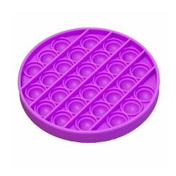 Push Pop Bubble - Push Pop Bubble Pop It Duyusal Oyuncak Özel Pop Stres Yuvarlak Mor