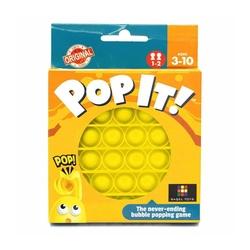 Push Pop Bubble Pop It Duyusal Oyuncak Özel Pop Stres Yuvarlak Sarı - Thumbnail