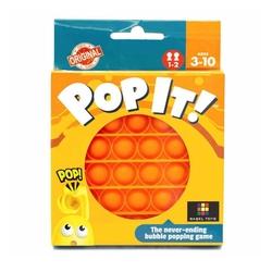 Push Pop Bubble Pop It Duyusal Oyuncak Özel Pop Stres Yuvarlak Turuncu - Thumbnail